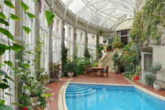 A swimming pool was added to the Conservatory in the 1950s